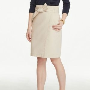 Ann Taylor belted wrap pencil skirt 00P NWT
